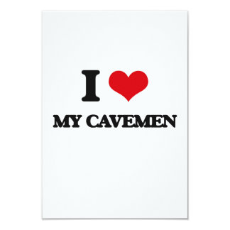 I love My Cavemen 9 Cm X 13 Cm Invitation Card
