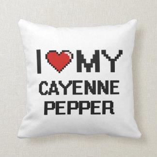 I Love My Cayenne Pepper Digital design Cushions