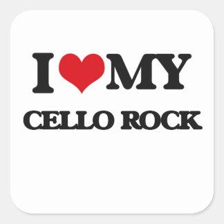 I Love My CELLO ROCK Sticker