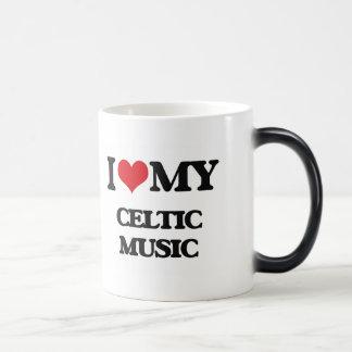 I Love My CELTIC MUSIC Morphing Mug