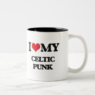 I Love My CELTIC PUNK Two-Tone Mug