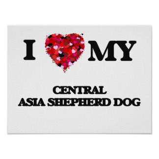 I love my Central Asia Shepherd Dog Poster