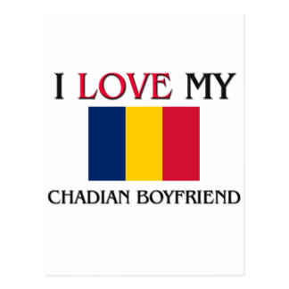 I Love My Chadian Boyfriend Post Cards