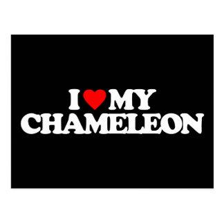 I LOVE MY CHAMELEON POSTCARD