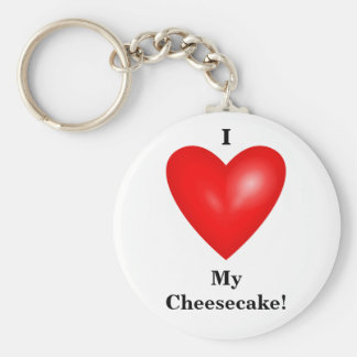 I Love My Cheesecake Keychain