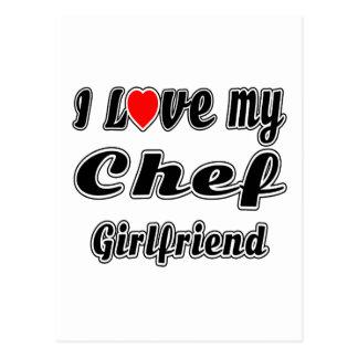 I love my Chef Girlfriend Post Card