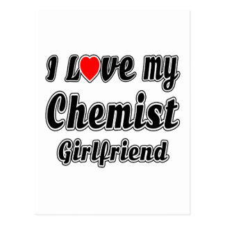 I love my Chemist Girlfriend Postcard