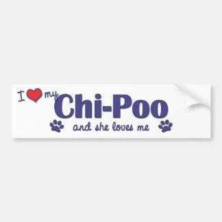I Love My Chi-Poo (Female Dog) Bumper Sticker