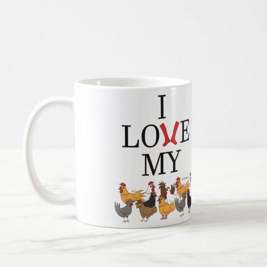 I Love My Chickens Mug (Left-Handed)