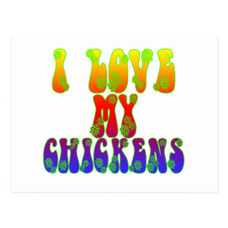 I Love My Chickens Postcard