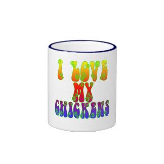 I Love My Chickens Ringer Mug