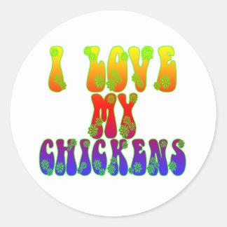 I Love My Chickens Round Sticker