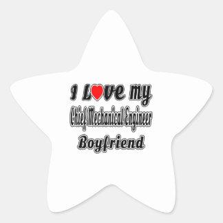 I love my Chief Mechanical Engineer Boyfriend Star Sticker