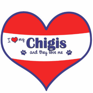 I Love My Chigis (Multiple Dogs) Photo Sculpture Decoration
