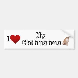 i love my chihuahua (2) bumper sticker