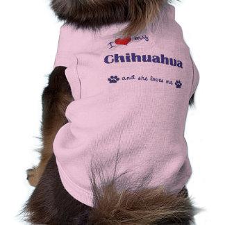 I Love My Chihuahua Female Dog Dog Clothing