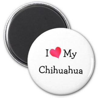 I Love My Chihuahua Magnet