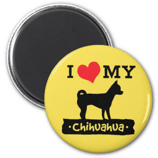 I Love My Chihuahua Magnet | Mini Brothers