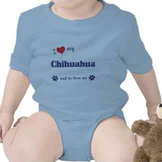 I Love My Chihuahua (Male Dog) T Shirt