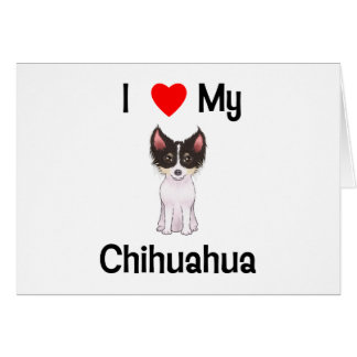 I Love My Chihuahua (picture) Card