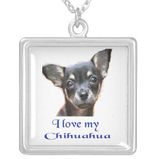 I love my Chihuahua Silver Plated Necklace