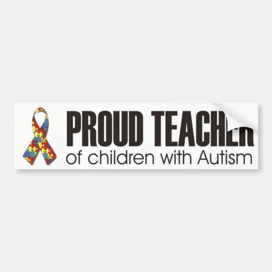 I love my child with autism - unique sticker desig bumper sticker