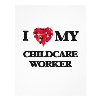 I love my Childcare Worker 21.5 Cm X 28 Cm Flyer
