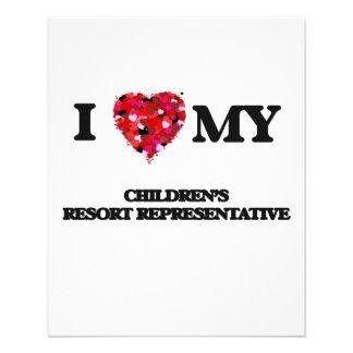 I love my Children's Resort Representative 11.5 Cm X 14 Cm Flyer