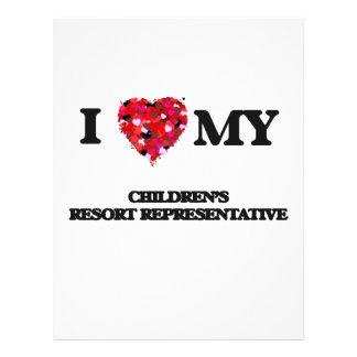 I love my Children's Resort Representative 21.5 Cm X 28 Cm Flyer