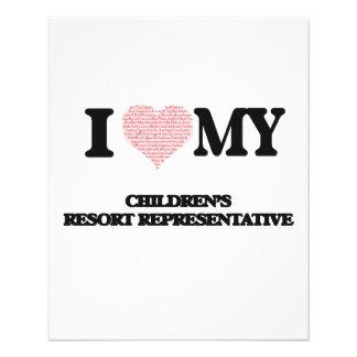 I love my Children's Resort Representative (Heart 11.5 Cm X 14 Cm Flyer