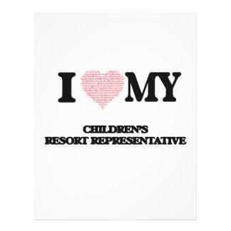 I love my Children's Resort Representative (Heart 21.5 Cm X 28 Cm Flyer