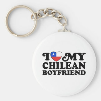 I Love My Chilean Boyfriend Key Ring