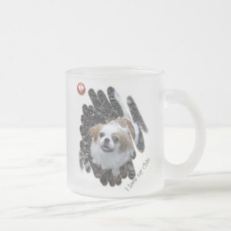 I Love My Chin 10 Oz Frosted Glass Coffee Mug