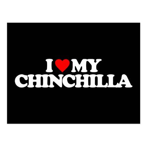 I LOVE MY CHINCHILLA POST CARD