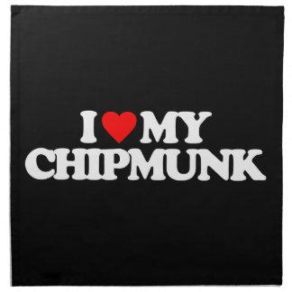 I LOVE MY CHIPMUNK NAPKIN