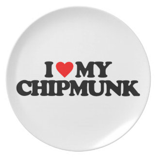 I LOVE MY CHIPMUNK PARTY PLATES
