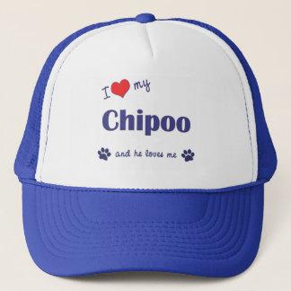 I Love My Chipoo (Male Dog) Trucker Hat