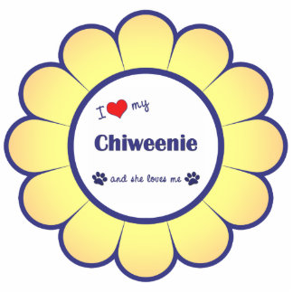 I Love My Chiweenie (Female Dog) Photo Sculpture Decoration