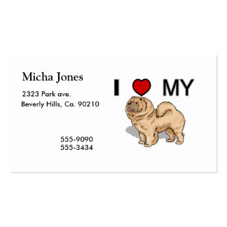 I Love My Chow Pack Of Standard Business Cards