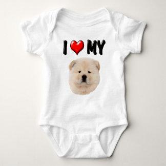 I Love My Chow Chow Baby Bodysuit