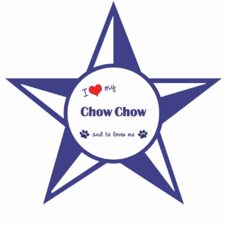 I Love My Chow Chow (Male Dog) Photo Cut Outs