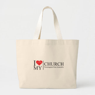 I love My Church Large Tote Bag