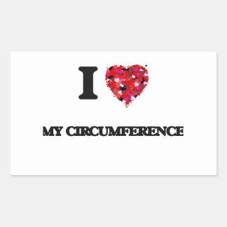 I love My Circumference Rectangular Sticker