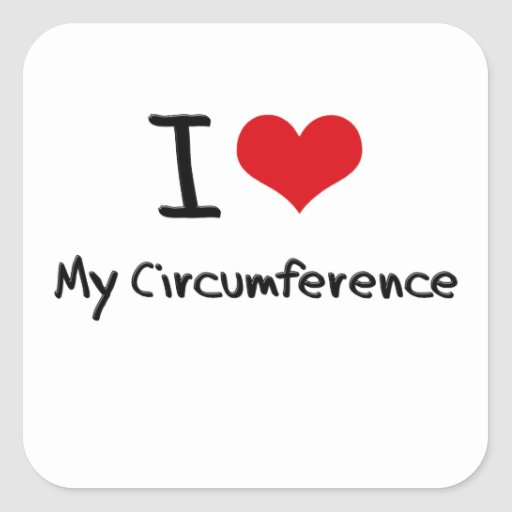 I love My Circumference Square Stickers