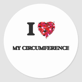 I love My Circumference Round Sticker