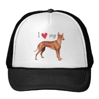 I Love my Cirneco dell'Etna Hat