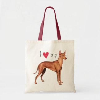 I Love my Cirneco dell'Etna Tote Bag