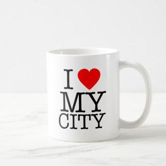 I Love my city Mugs