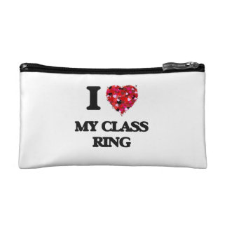 I love My Class Ring Cosmetic Bags