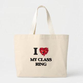 I love My Class Ring Jumbo Tote Bag